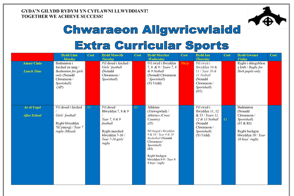 Extra Curricular Sports